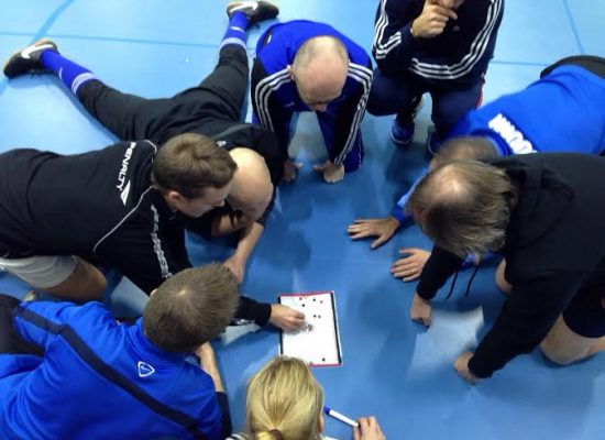 Futsal things on the coaching board